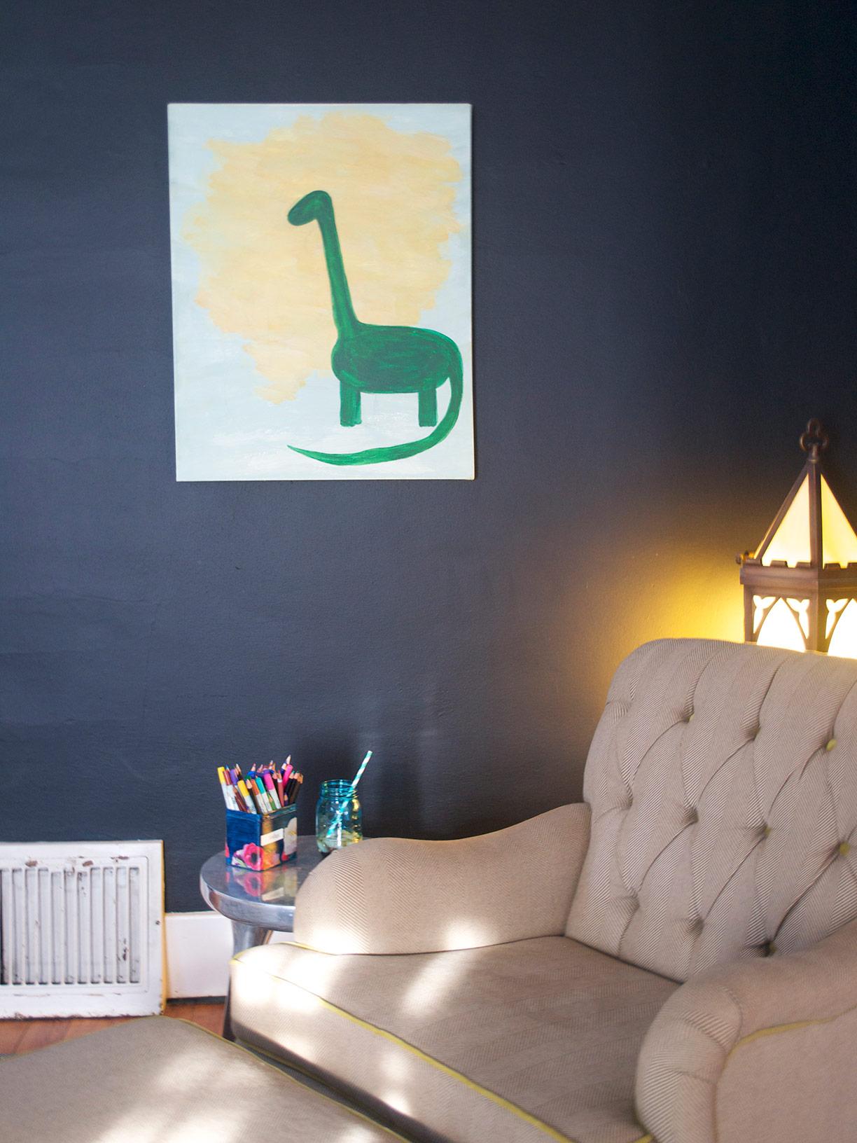 Dinosaur, acrylic | Hannah B. 2009