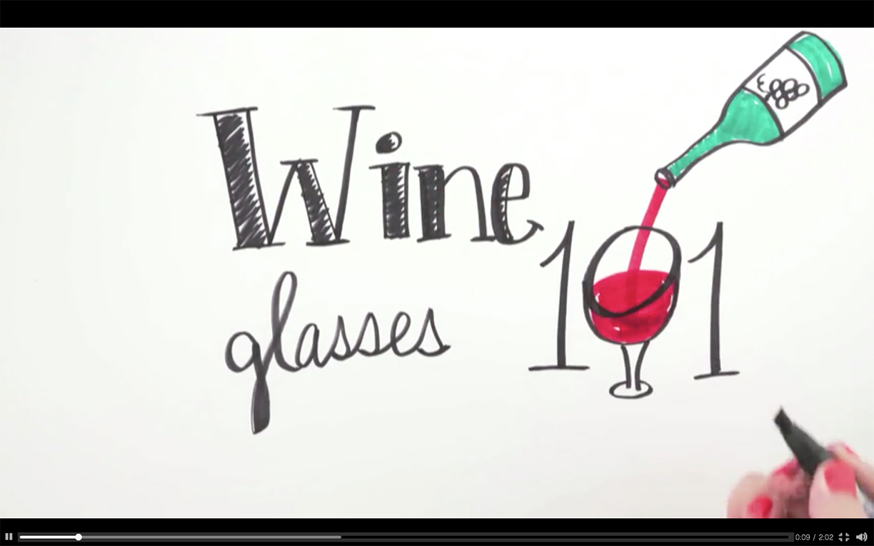 Wine Glasses 101  illustrated video for HGTV | Hannah B. Slaughter, artist