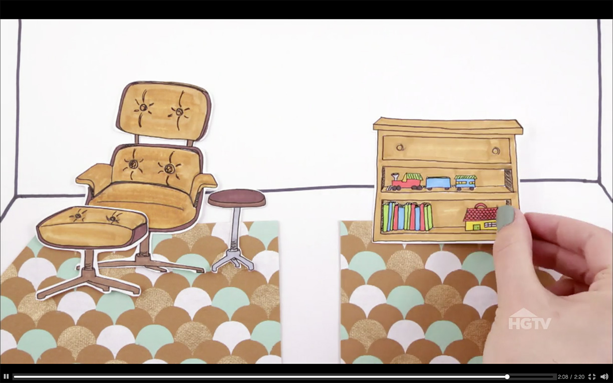 How to Choose the Right Rug illustrated video for HGTV   Hannah B. Slaughter, artist