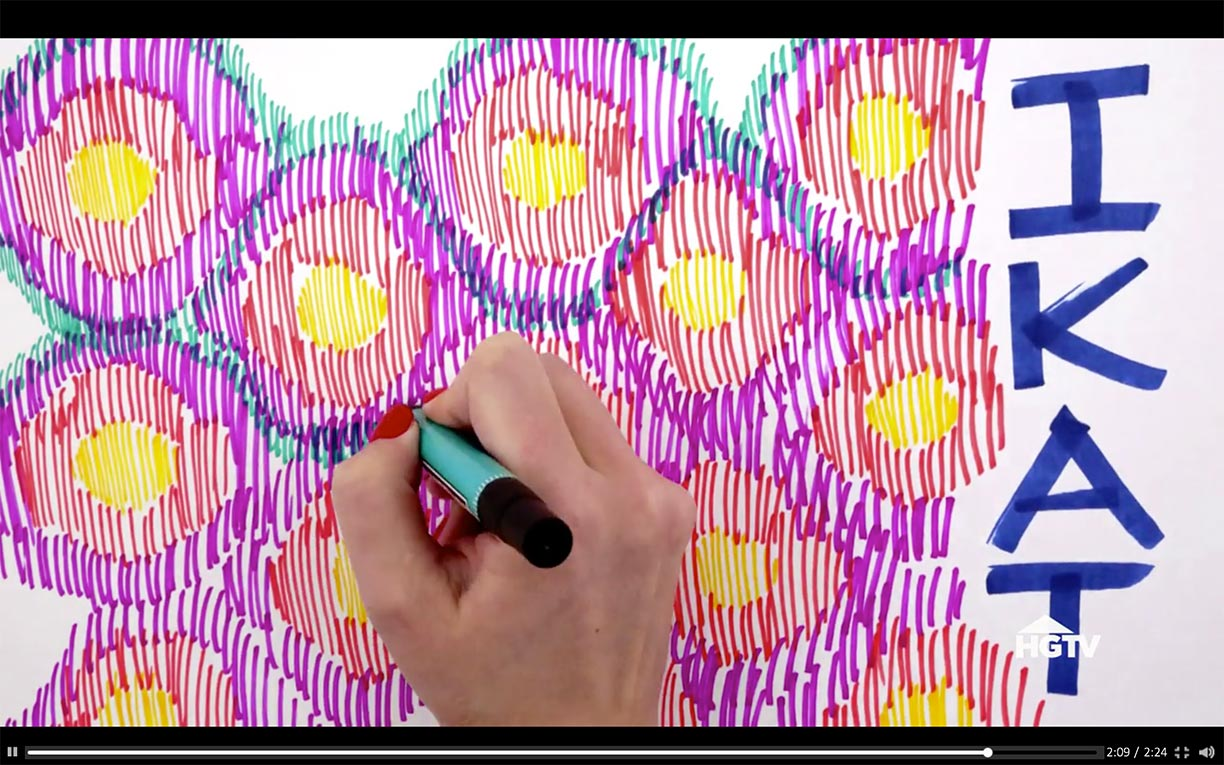 A World of Patterns  illustrated video for HGTV | Hannah B. Slaughter, artist