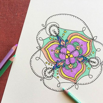 Coloring Pages for DIY Network, illustrated by Hannah B. Slaughter